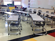 Classroom tables supplied by PEMCo